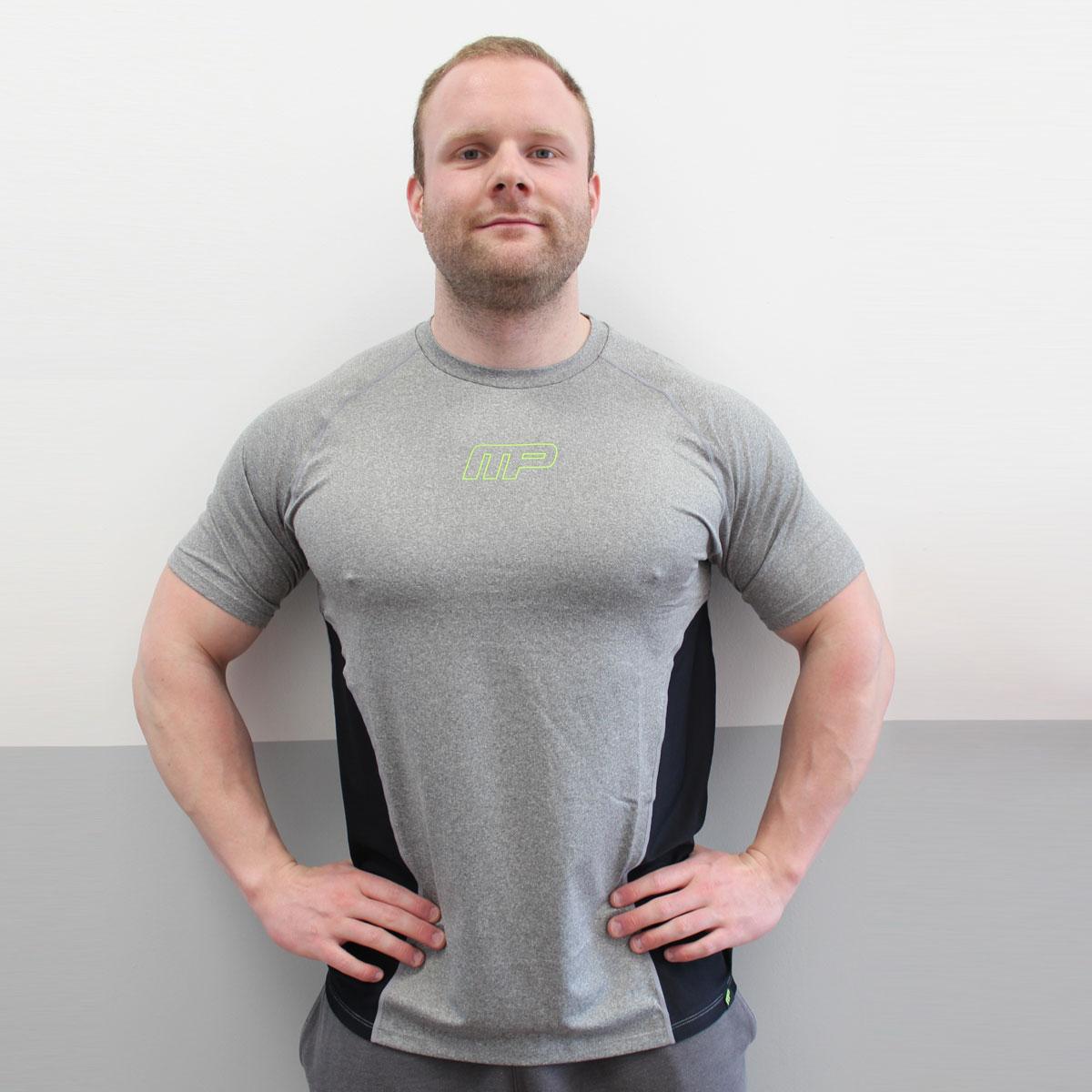 MUSCLEPHARM Mens Performance T-Shirt XXL/Grey Marl
