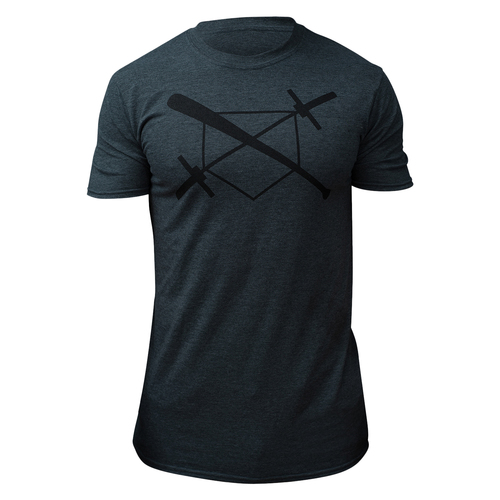 BARBELLS BASEBALL The X T-SHIRT