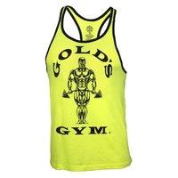 Gold's Gym Contrast Stringer Tank Top - neongelb
